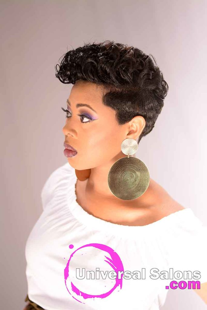 Tapered Sides on a Short Hairstyle from Black Women