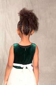 Back View: Afro Curl Ponytail