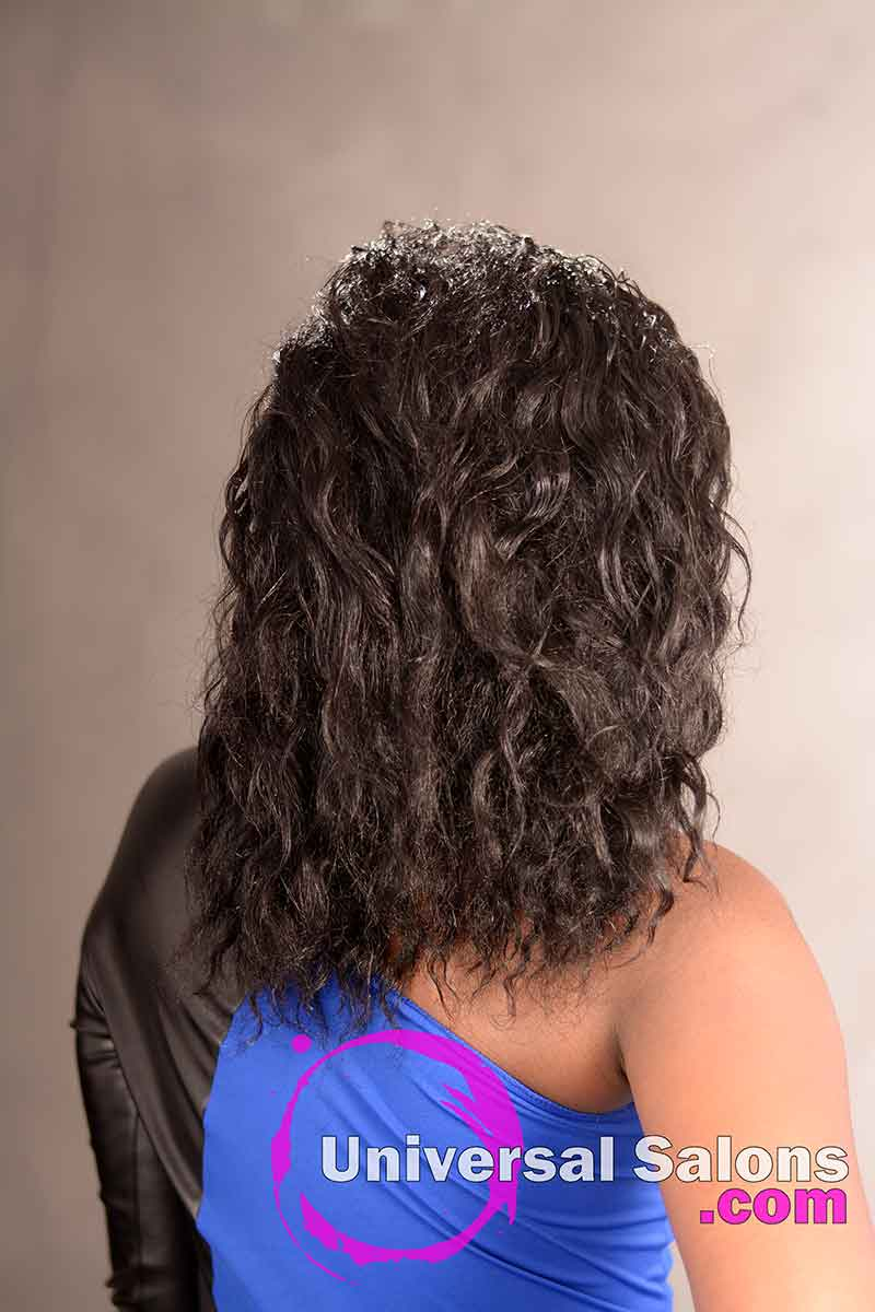 Back View of a Natural Braid Out Hairstyle