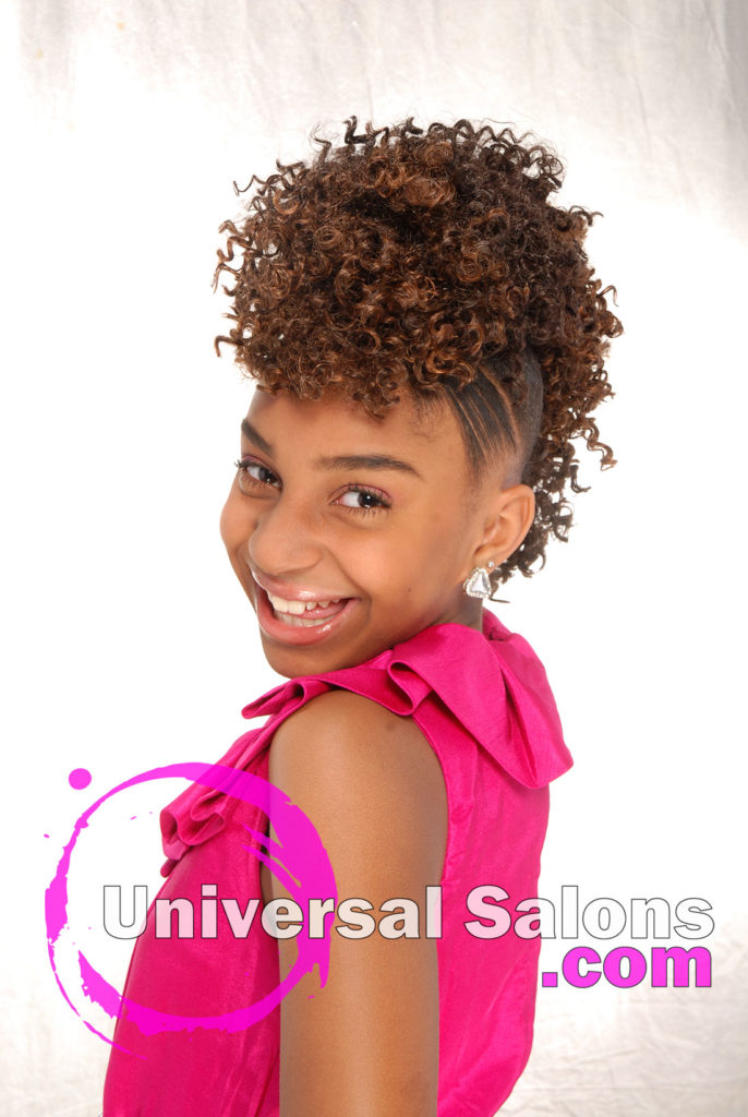 Curly Mohawk Updo Black Hairstyles for Little Kids