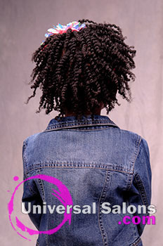 The Back View of Black Hairstyles for Little Girls