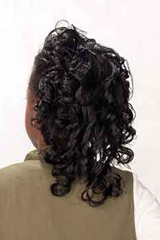 Back View: Mid-Length Curled Bob Hairstyle