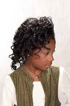 Right Side: Mid-Length Curled Bob Hairstyle