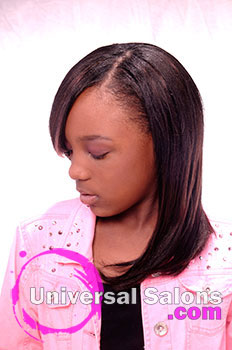 Left View: Pink Sensation Kid's Hairstyle