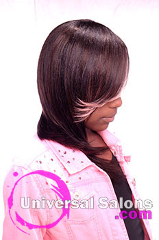 Right View: Pink Sensation Kid's Hairstyle