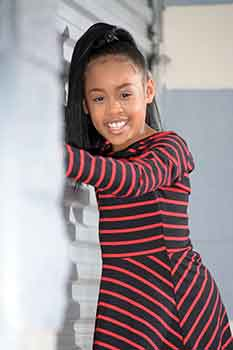 Sleek Straight Ponytail Black Hairstyles for Little Girls