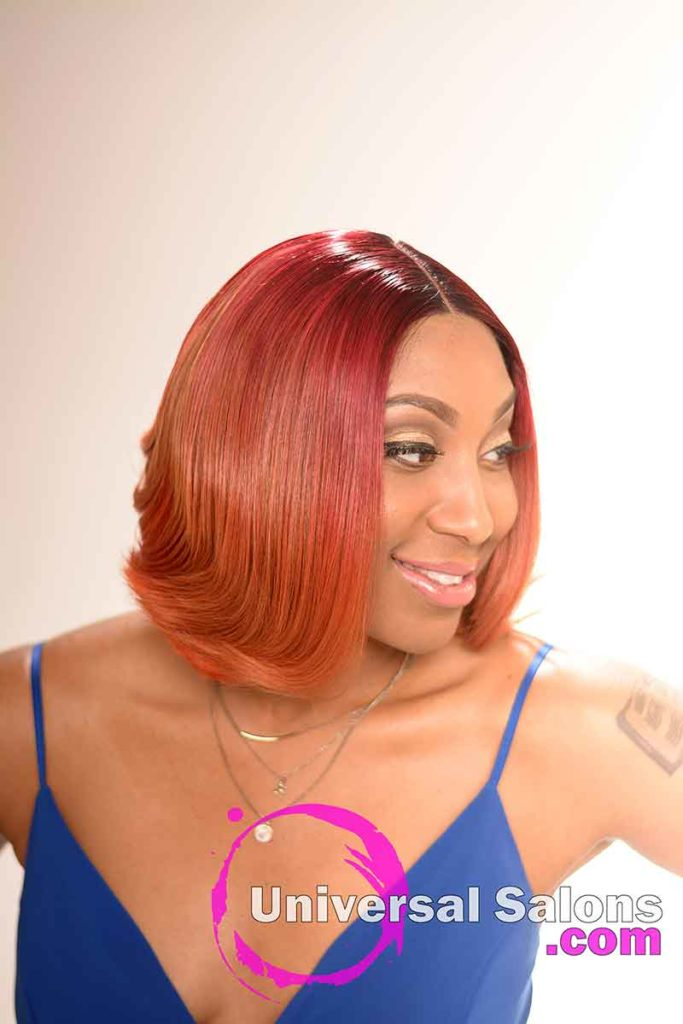 Right View of a Sew In Bob Hairstyle