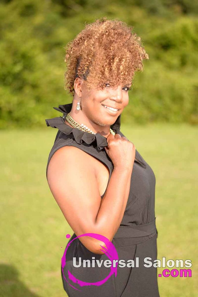 Outside Right View Curly Mohawk Hairstyle