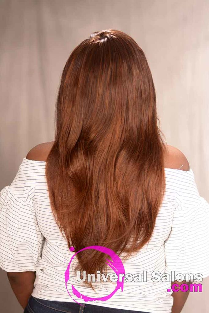 Back View of a Long Quick Weave Hairstyle
