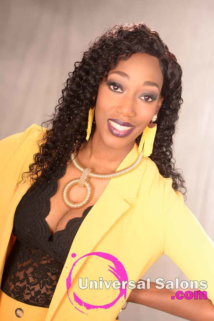 Long Deep Waves Hairstyle for Black Women