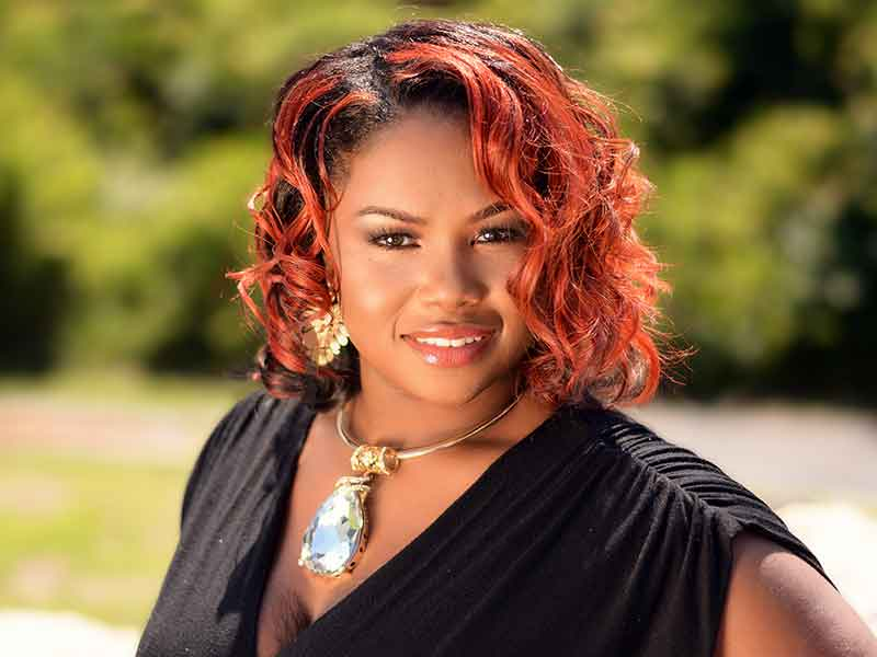 Curly Red Ombre Hairstyle for Black Women
