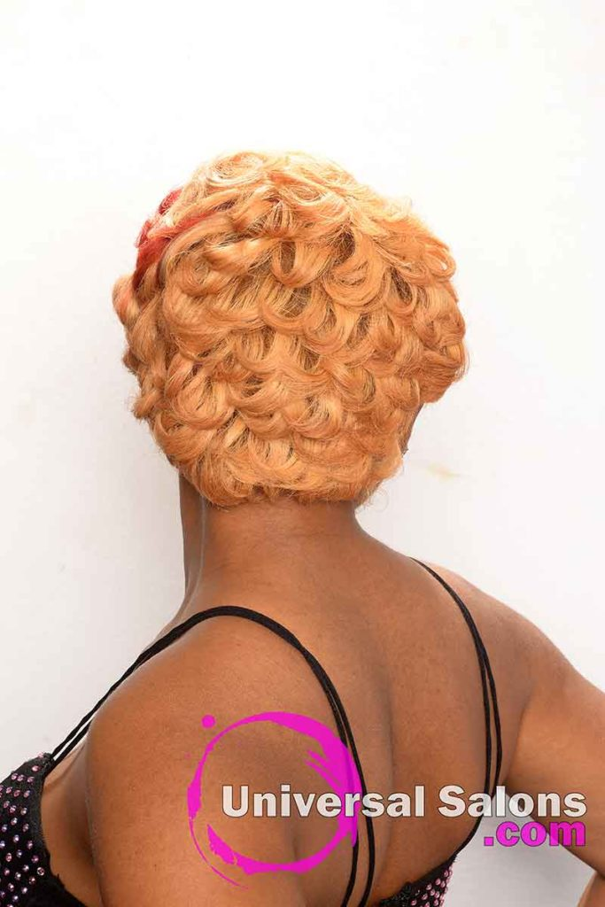 Back View of the Best Hair Color for Black Women