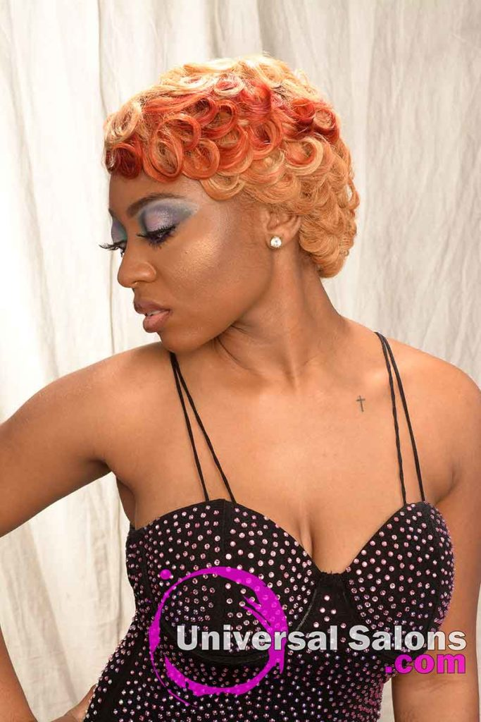 Left View of the Best Hair Color for Black Women