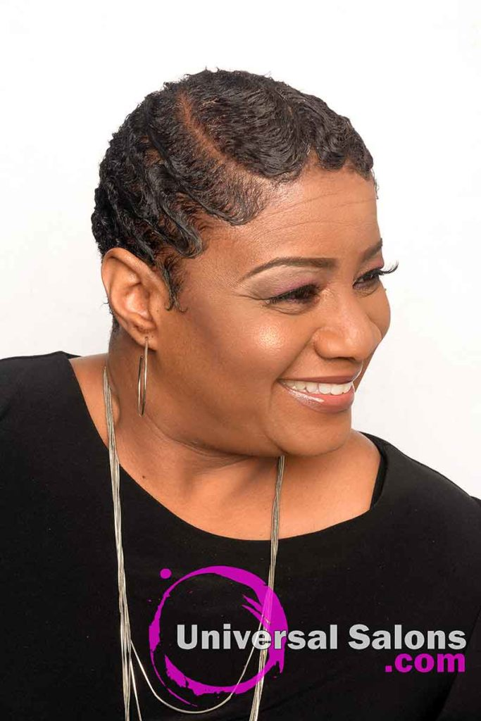 Finger Waves With Color Precision Haircut