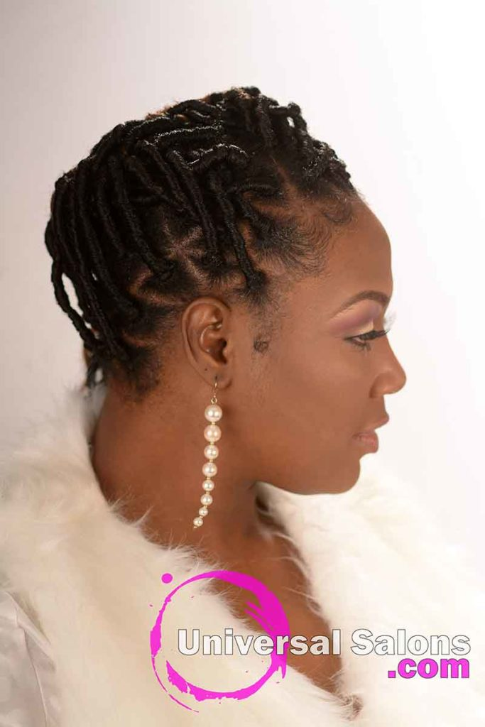 Left View Locs Hairstyle With Triangle Parts