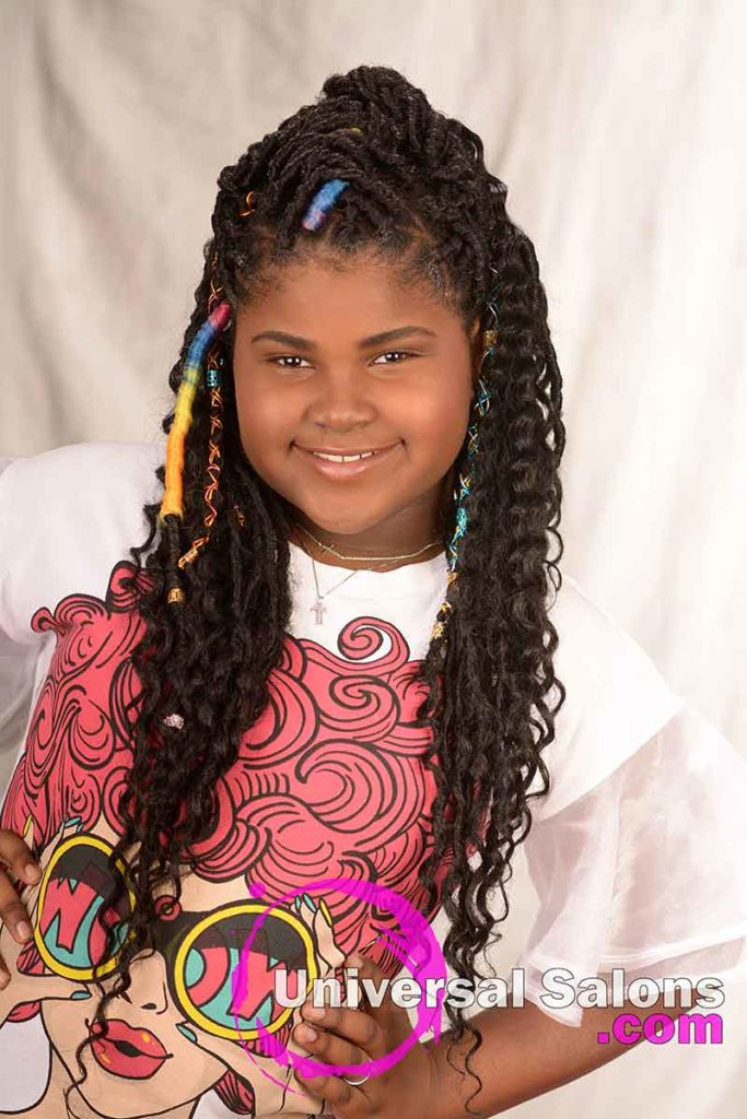 Long Faux Locs Kid's Hairstyle