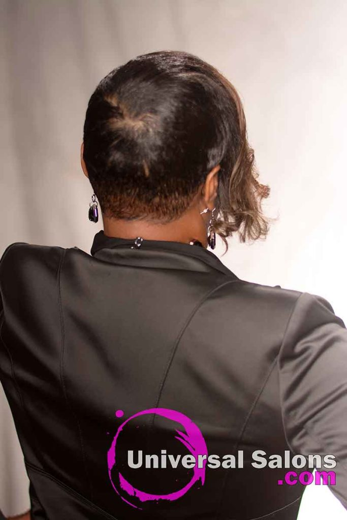 Back View of a Short Pixie Haircut for Black Women