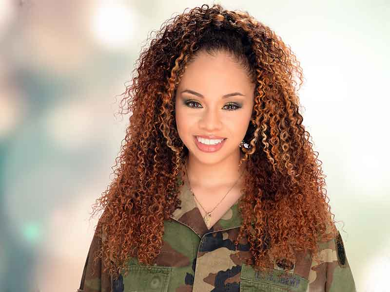 Bohemian Curls Sew-In Hairstyle With Hair Color