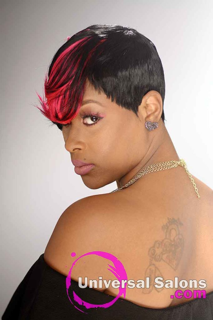 Short Quick Weave Hairstyle With Color