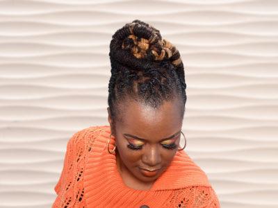 Barrel Twist Locks Updo Hairstyle