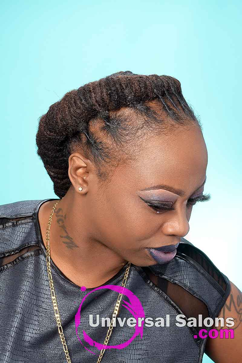 Right View Looking Down With Natural Locks Hairstyles
