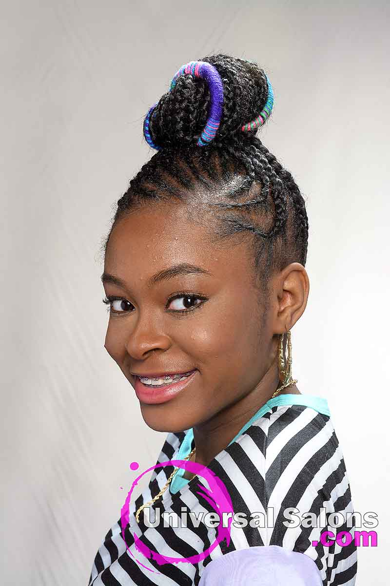 Feed-In Braids Protective Hairstyle for Kids