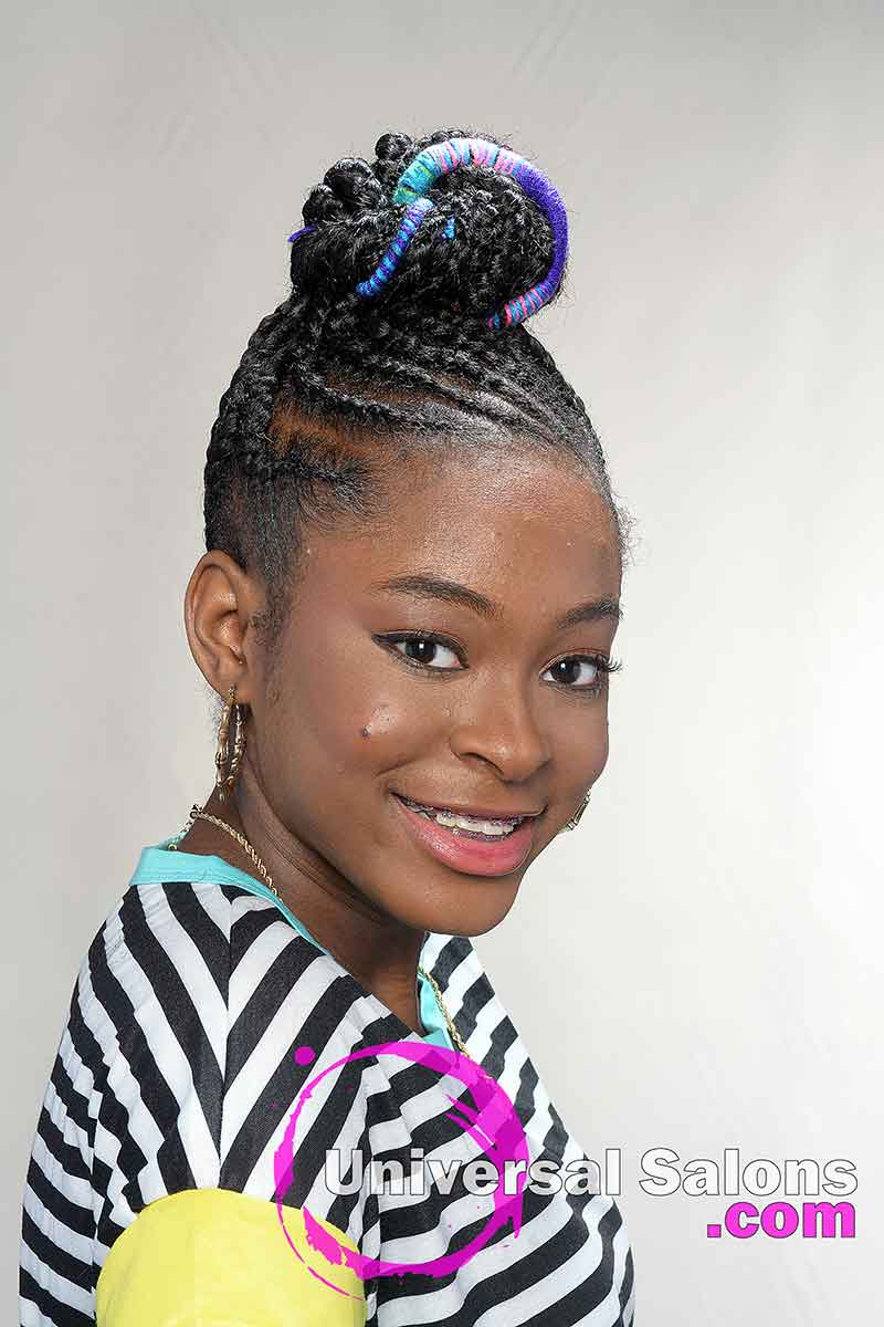 Kid Model Smiling With Protective Hairstyle