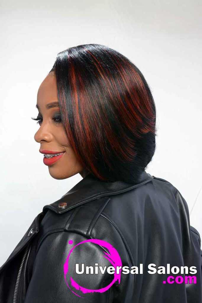 Left View Short Quick Weave Bob Hairstyle
