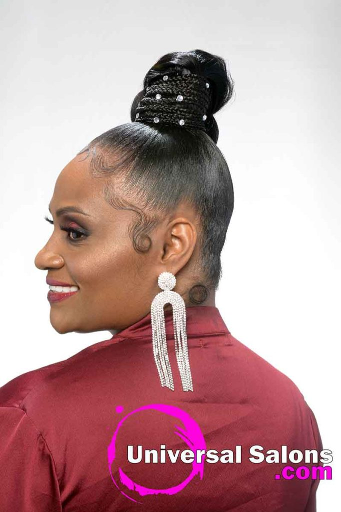 Left View Updo Black Hairstyles