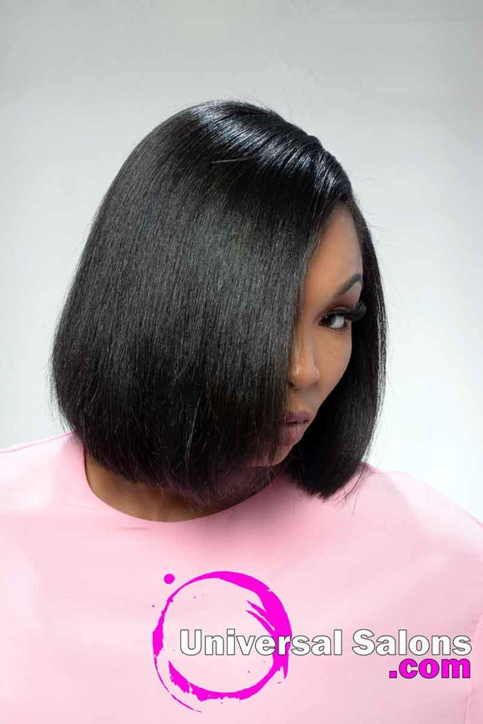 Right View of Bob Hairstyle for Black Women in 2021