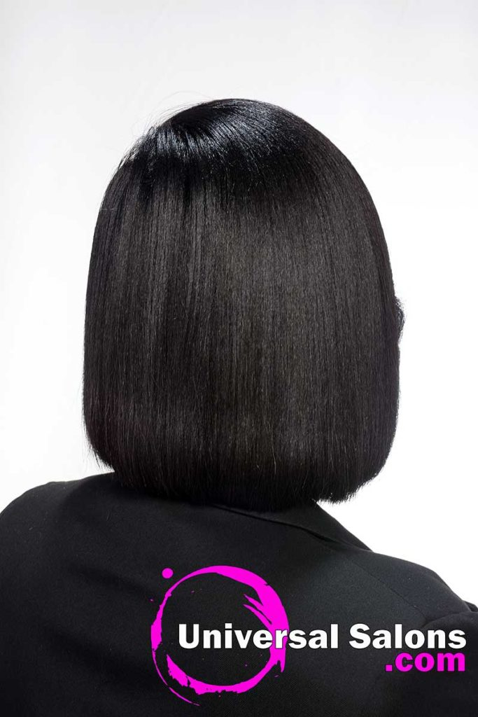 Back View Asymmetrical Bob Hairstyle