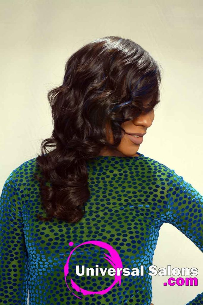 Right View of Long Quick View Hairstyle With Curls