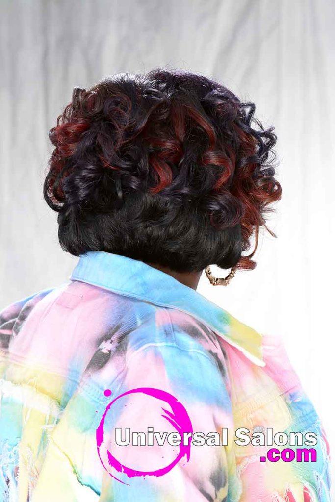 Back View Chin-Length Curly Haircut
