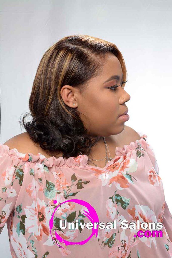 Right Side Honey Blonde Hair Color for Black Women