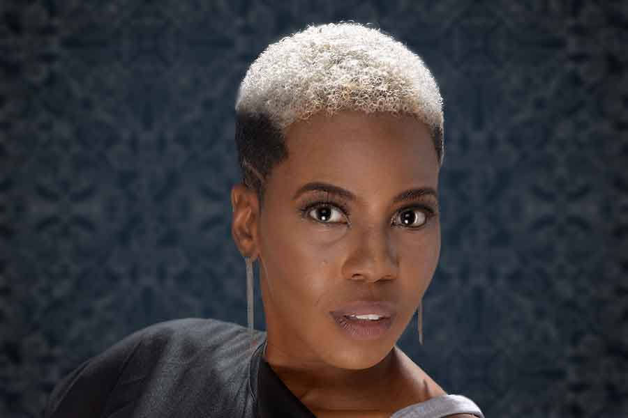 Check Out This Fierce Clipper Cut Hairstyle With Grey Hair Color